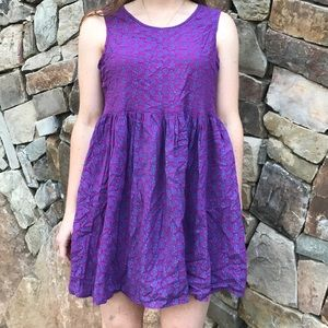 NWT Natural Life women's purple mini dress